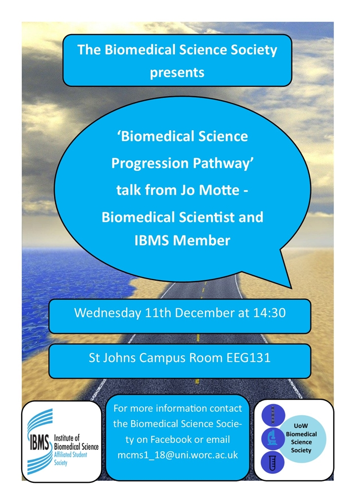 Guest Speaker Talk 'Biomedical Science Progression Pathway'